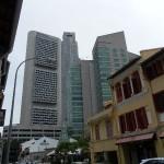 Hier der Kontrast zwischen Chinatown und dem Business District.